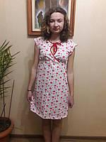 Ночная женская сорочка с коротким рукавом из трикотажа