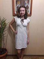 Ночная женская сорочка с коротким рукавом