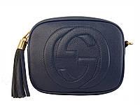 Сумочка в стиле Gucci (синяя)  №80118-9