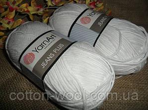 Yarnart Jeans Plus (Ярнарт Джинс Плюс) 62 белоснежный