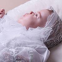 Кружевная шапочка Белла (Изабелла) от Miminobaby белая