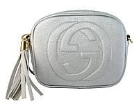 Сумочка в стиле Gucci (серебряная)  №80118-9