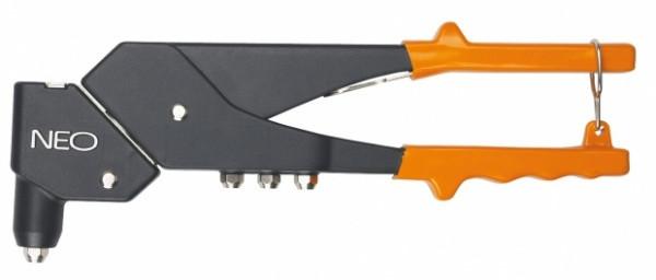 Заклепочник для заклепок стальных и алюминиевых 2.4, 3.2, 4.0, 4.8 мм, NEO  18-102