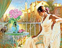 """Схемы для вышивки бисером  """"Дама с розами"""""""