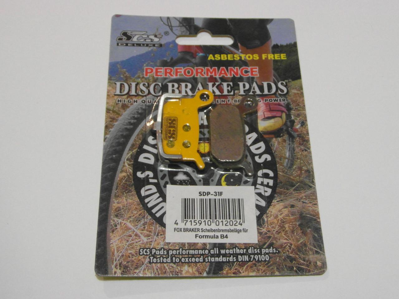 Дисковые тормозные колодки велосипеда 31S SCS