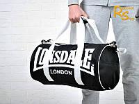 Спортивная сумка Lonsdale London (черная с белыми буквами)