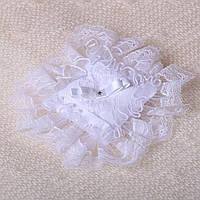 Подушка для крестика от Miminobaby белая кружевная