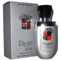 Dagger Metal 100 мл мужская туалетная вода Dina Cosmetics