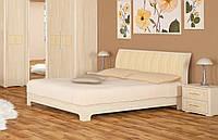 """Кровать ламель """"Токио"""" 160х200 см. Ясень светлый, Венге"""