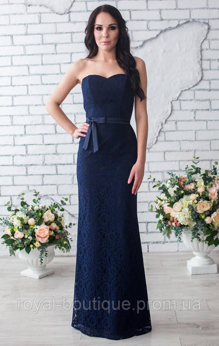 f2140553d1c Темно синее вечернее платье - Магазин женской одежды «Роял-бутик» в Белой  Церкви