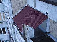 Козырёк над балконом, фото 1