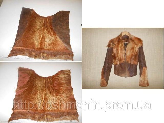 Ремонт рукавов в кожаной куртке