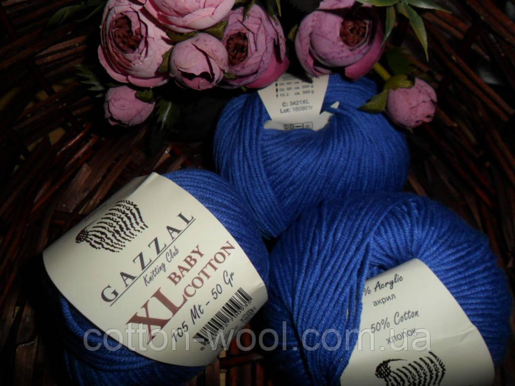Gazzal Baby cotton XL  3421 васильковый