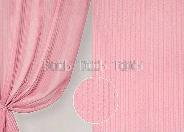 """Готовая тюль - вуаль """"Полоска Розовый"""", 3 метра , фото 2"""