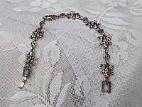 Женский браслет из стали, цепь, лягушки со стразами