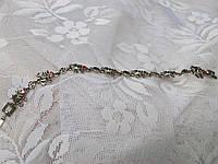Стальной браслет лягушки со стразами в подарок женщине.