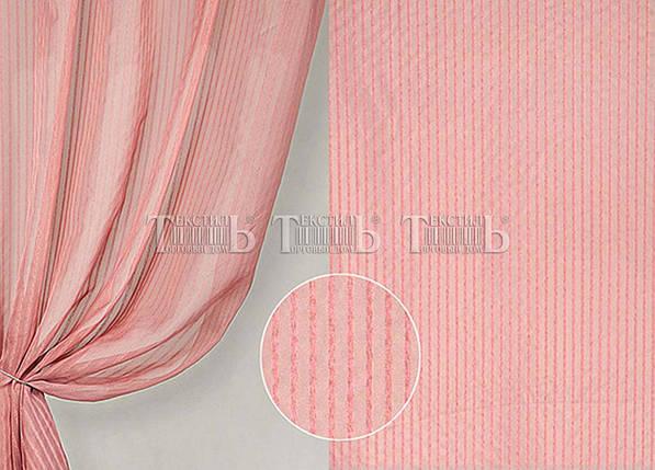 """Готовая тюль - вуаль """"Полоска Розовый Антик"""", 3 метра , фото 2"""