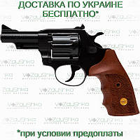 Револьвер флобера Alfa 431 вороненный, деревянная рукоять