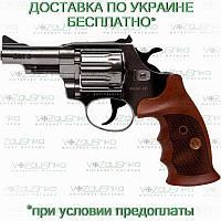 Револьвер флобера Alfa 431 никелированный, деревянная рукоять