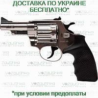 Револьвер флобера Alfa 431 никелированный, пластиковая рукоять
