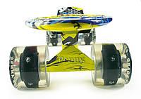 Мини Круизер Джокер/Joker со Стилизованной Подвеской Светящийся / пенниборд скейт (penny board), скейтборд