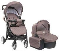 Детская коляска универсальная 2 в 1 4baby Atomic Duo Brown коричневая Польша