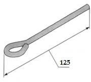 Спица с петлей (ушком) 125 мм. Украина (Тяга подвеса)