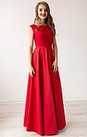 Изысканное красное вечернее платье