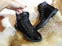 Зимние ботинки на меху комбинация