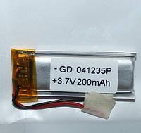 Полимерный аккумулятор GD 041235P (3,7 V 200 mAh)