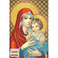 Бісерна заготовка  МДЧ Мадонна с младенцем (в красном)