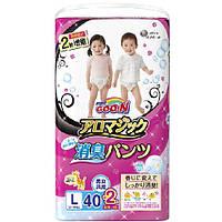 Трусики-подгузники GOO.N серии AROMAGIC для детей весом 9-14 кг размер L, унисекс, 40+2 шт (853039)