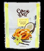 Кокосовые чипсы со вкусом ванили, ТМ «COCODELI» 30 гр