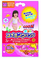 Трусики-подгузники для плавания Goo.N для девочек 7-12 кг, ростом 60-80 см размер M, 3 шт (753643)