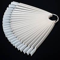 Палитра - веер длинный 12 см, 24 типсы, прозрачный