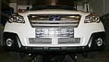 Декоративно-защитная сетка радиатора Subaru Outback 2009- воздухозаборник, бампер, фальшрадиаторная решетка, фото 9