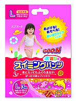 Трусики-подгузники для плавания Goo.N для девочек 9-14 кг, ростом 70-90 см размер L, 3 шт (753645)