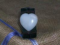 Кожаный браслет на руку, СЕРДЦЕ из агата