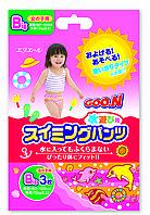Трусики-подгузники для плавания Goo.N для девочек от 12 кг, ростом 80-100 см размер Big XL, 3 шт (753647)