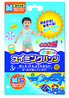 Трусики-подгузники для плавания Goo.N для мальчиков 7-12 кг, ростом 60-80 см размер M, 3 шт (753642)