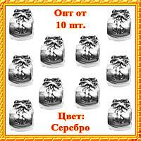 Бусина Шарм Денежный Мешок Металлическая Цвет: Серебро, Разм 10*8*7 мм., Отвр. 5 мм Бусина в стиле Пандора Опт