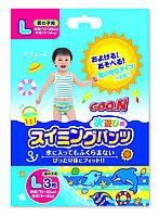 Трусики-подгузники для плавания Goo.N для мальчиков 9-14 кг, ростом 70-90 см размер L, 3 шт (753644)
