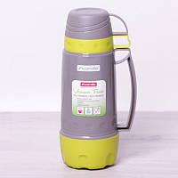 Термос 1800 мл со стеклянной колбой и 3 пластиковыми чашками Kamille 2081