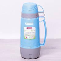 Термос 1000 мл со стеклянной колбой и 3 пластиковыми чашками Kamille 2080