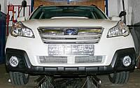 Декоративно-защитная сетка радиатора Subaru Outback 2009- воздухозаборник, бампер, фальшрадиаторная решетка, фото 1