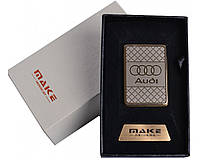Зажигалка подарочная Audi (спираль накаливания, USB) №4693