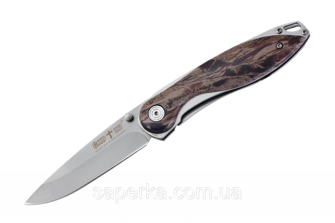 Нож многофункциональный с отверстием для темляка Grand Way 00341