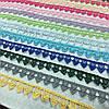 Кружево синтетика разноцветное узкое 2 см