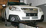 Декоративно-защитная сетка радиатора Subaru Outback 2009- воздухозаборник, бампер, фальшрадиаторная решетка, фото 7