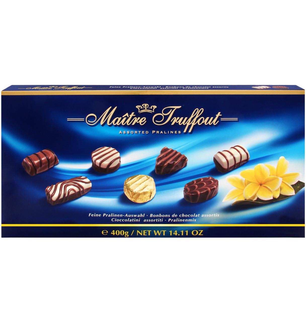 Шоколадные конфеты Maitre Truffout Assorted Pralines с пралине, 400 гр.